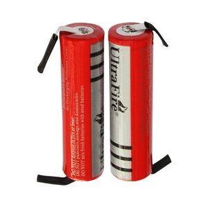 Philips UltraFire 2x 18650 batteri med loddetinnsfaner (3000 mAh, Oppladbart)