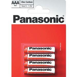 Panasonic 4 stk Panasonic AAA Zink Carbon Batterier