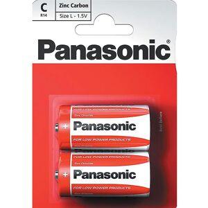 Panasonic 2 stk Panasonic C Zink Carbon Batterier