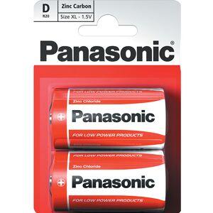 Panasonic 2 stk Panasonic D Zink Carbon Batterier