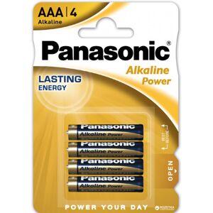 Panasonic 4 stk Panasonic AAA Alkaline Batterier
