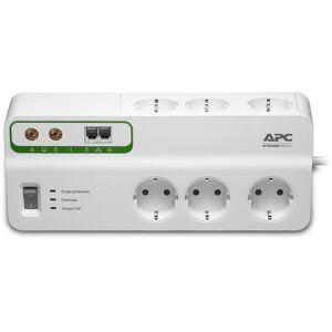 APC PMH63VT-GR APC SurgeArrest Essential, grenkontakt med 6x el+TV+ tel/fax/ADSL hvit