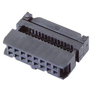BKL Electronic Hylslist inlägg med dragavlastning Rastermått: 2.54 mm Totalt antal poler: 6 Antal rader: 2 1 st