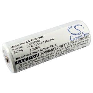 Batteri til Welch-Allyn 11720, Welch-Allyn 11730 3.6V 750mAh 78904586