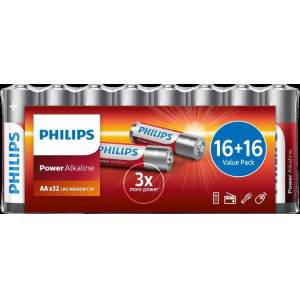 Philips Batteri Power Aa/lr6 32-Pack