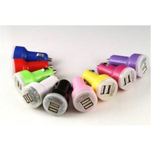 James Zhou Universal billaddare med 2 USB utgångar i olika färger! (Blå)