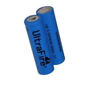 Panasonic UltraFire 2x 14500 batteri (1200 mAh, Laddningsbar)