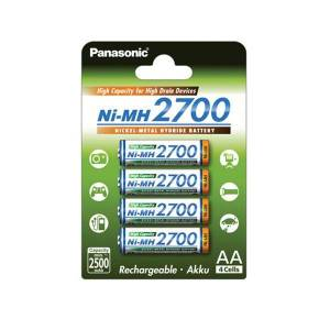 Panasonic High Capacity Ni-MH Uppladdningsbara AA 4-pack
