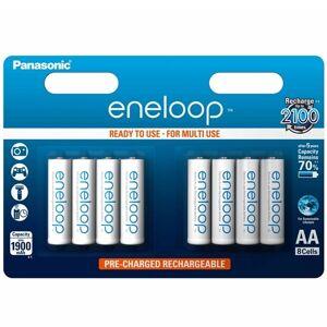 Panasonic Eneloop BK-3MCCE Laddningsbara AA-Batteri - 8-pack