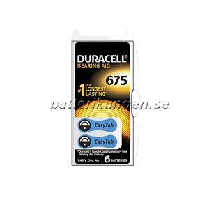Duracell A675 hörapparatsbatterier - 6 st