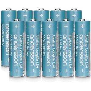 Andersson 10-pack alkaliska Longlife AA-batterier