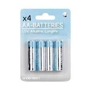 Andersson 4-pack alkaliska Longlife AA-batterier