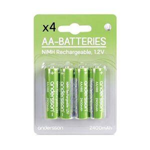 Andersson Laddningsbara AA-batterier HR06 1,2V 2400mAh