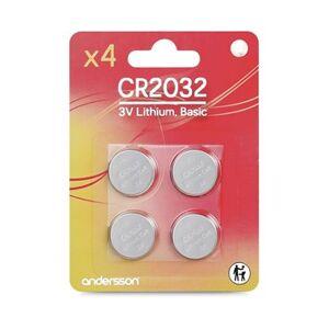 Andersson 4-pack CR2032 Knappcellsbatterier