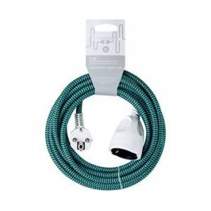Andersson Extension cord textile black/turqoise,5m