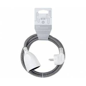Andersson Extension cord textile black/white, 1.5m