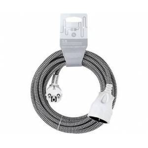Andersson Extension cord textile black/white, 5m
