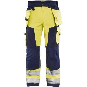 Blåkläder High Vis Softshell Buks Klasse 2 High Vis Gul/marineblå C44