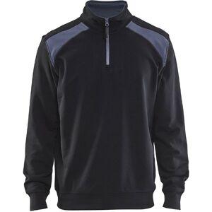 Blåkläder 2-Farvet Sweatswhirt Half Zip Sort/grå 4XL