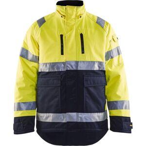 Blåkläder High Vis Vinterjakke Bævernylon High Vis Gul/marineblå L