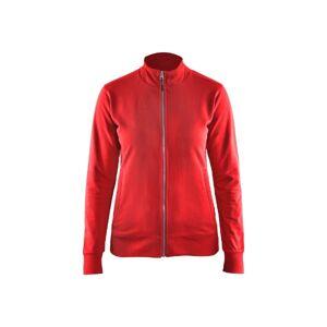 Blåkläder Dame Full Zip Sweatshirt-Rød-M