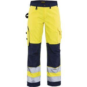 Blåkläder Dame High Vis Bukser Uden Sømlommer High Vis Gul/marineblå C34