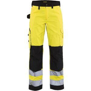 Blåkläder Dame High Vis Bukser uden sømlommer High Vis Gul/Sort