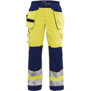 Blåkläder Dame High Vis Bukser med sømlommer High Vis Gul/Marineblå