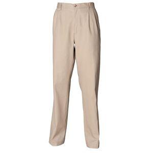 Henbury Mens Teflon® motstandsdyktig mot flekker belagt Pleated Chino arbeidsbukser / bukser Stein 34 x Long