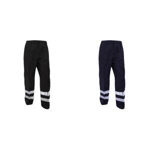 Yoko Mens reflekterende ballistisk bukser (vanlig) / Hei Vis Workwear Svart 42W x Regular