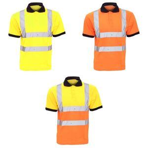 Yoko Hi-Vis kort ermet Polo skjorte / Mens Workwear Hi-Vis gul 6XL