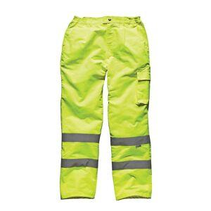 Dickies Mens Hi Vis Pc Workwear Trousers Yellow SA35015Y L