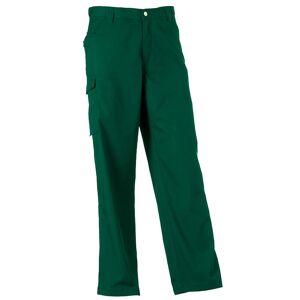 Russell Workwear Mens polyester og bomull Twill Trouser / bukser (vanlig) Flaske grønt 32W x Regular