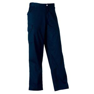 Russell Workwear Mens polyester og bomull Twill Trouser / bukser (vanlig) Franske marinen 40W x Regular