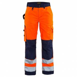 Blåkläder Varselbyxa utan Hängfickor Blåkläder   DamD24Orange/Marinblå Orange/Marinblå