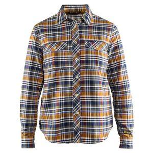 Blåkläder Flanellskjorta Blåkläder   DamSOrange/Marinblå Orange/Marinblå