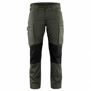 Blåkläder Servicebyxa Stretch Blåkläder   DamC30Armégrön/Svart Armégrön/Svart