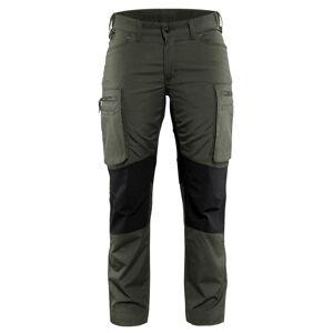 Blåkläder Servicebyxa Stretch Blåkläder   DamC42Armégrön/Svart Armégrön/Svart