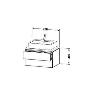 Duravit L-cube Servantskap M/2 Skuffer 720x400x477 Mm, Pine Silver