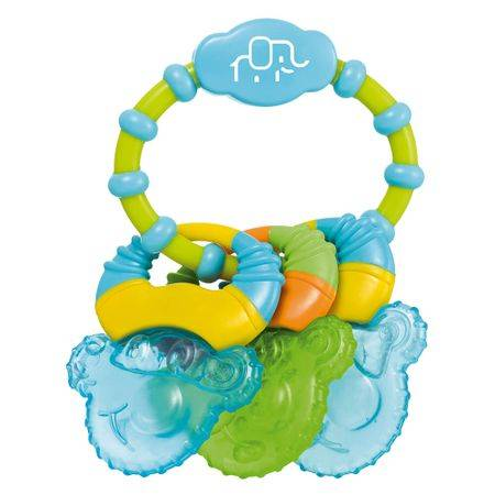 Multikids Baby Mordedor com Gel Cool Rings Azul Multikids Baby - BB150 BB150