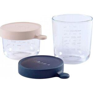 Béaba - Glas Med Låg - 2 Stk - Pink Blå
