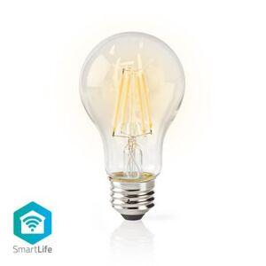 Nedis, Wi-Fi Smart LED-pære, Glødepære, E27, Hvid,...