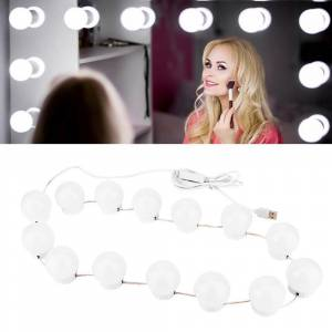 LED 12V Cosmetic Mirror Lamp Hollywood Makeup Lights 6 10 14Bulbs Kit For Dressing Table Stepless Dimmable WallLamp Lighting Luz
