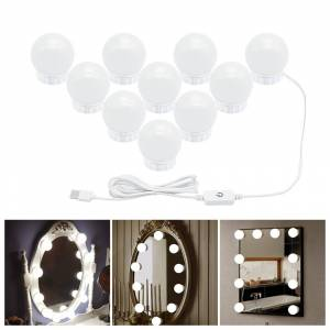 USB Port Makeup Mirror Light Bulb Hollywood Vanity Lights Make Up Dimmable LED Wall Lamp 6 10 14Bulbs Kit for Dressing Table