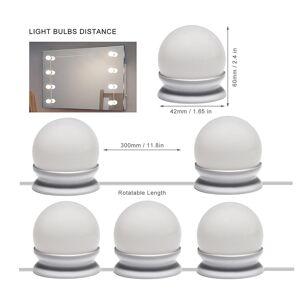 LED Makeup Lamp Wall Light USB Bulbs Kit For Dressing Table Hollywood Vanity Mirror Light Cosmetic Lighted Dressing Table Bulbs