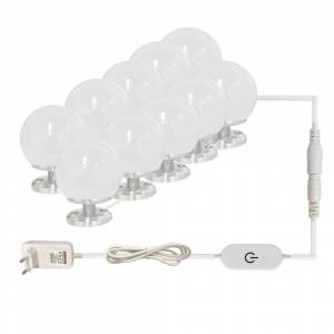 LED 12V Makeup Mirror Light Bulb Hollywood Vanity Lights Stepless Dimmable Wall Lamp 6 10 Bulbs Kit for Dressing Table