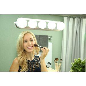 Hollywood LED Mirror Light Plastic Vanity Lights Studio Suction Cup Makeup Light Table Bathroom Room 5 LED Bulbs Cosmetic Light