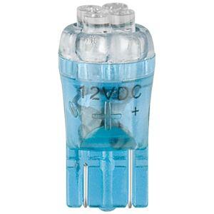 T10 miniatyr LED pære blå 0,3W 12V 22,3x10,8mm
