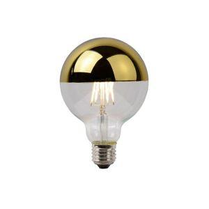Lucide LED Bulb Vintage Globe Glass Transparant And Gold Filament Bulb