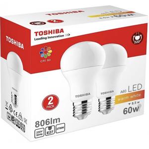 Toshiba LED E27 60W 806 Lumen 2 stk Belysning